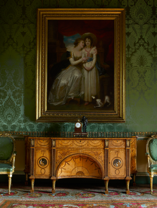 Thomas Chippendale's 'The Diana and Minerva Commode', 1773, for the State Bedroom at Harewood House in Yorkshire. The house was Thomas Chippendale's largest and most extensive commission, and the commode is regarded as one of his greatest works. Photo: Paul Barker via Harewood House Trust