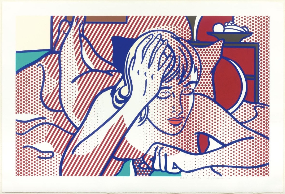 ROY LICHTENSTEIN (1923 New York 1997) - Thinking Nude, State I, color relief print, artist's copy, signed and dated, 1994