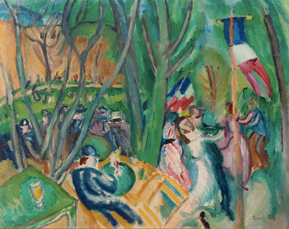 RAOUL DUFY - (Le Havre 1877 - 1953 Forcalquier) - Le bal populaire, Öl/Lwd., 34 x 42 cm, signiert, 1906 Schätzpreis: 330.000-380.000 CHF (305.560-351.850 EUR)