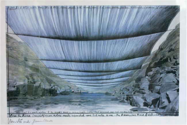 En av skisserna till det omfattande konstprojekt som aldrig slutfors