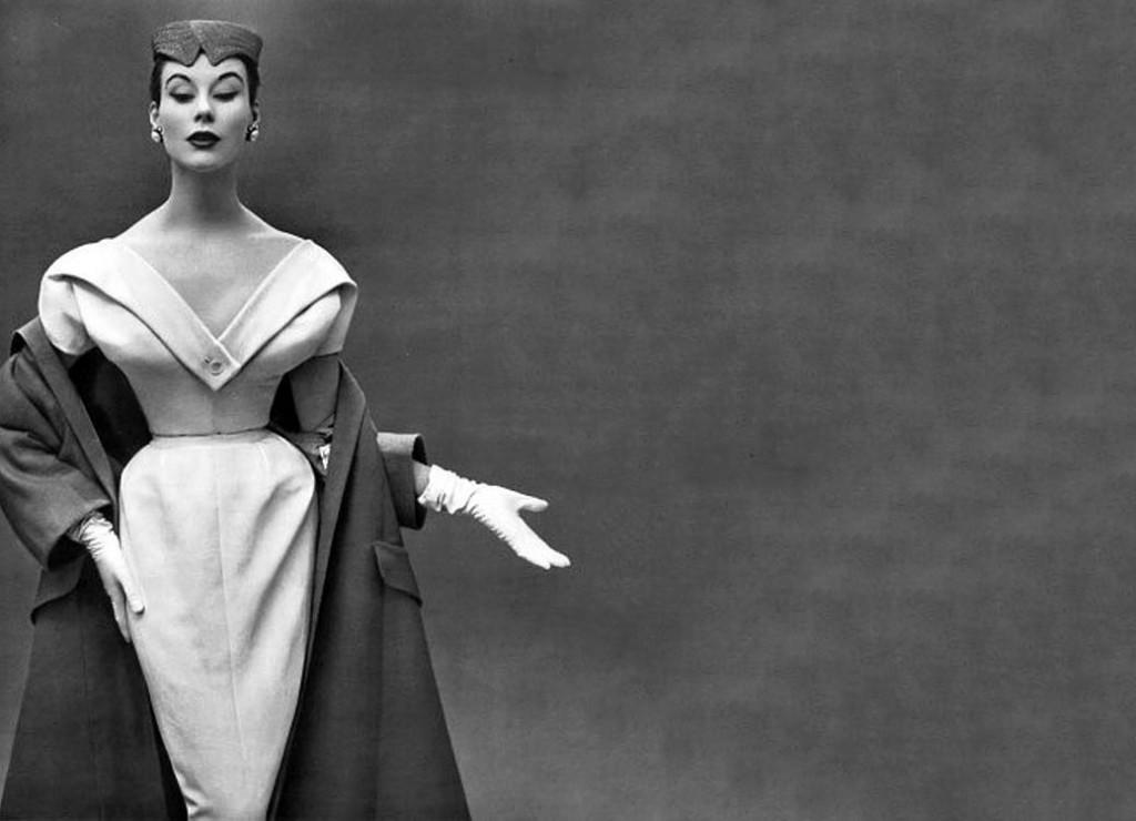 Christian Dior, robe du soir et manteau, 1953