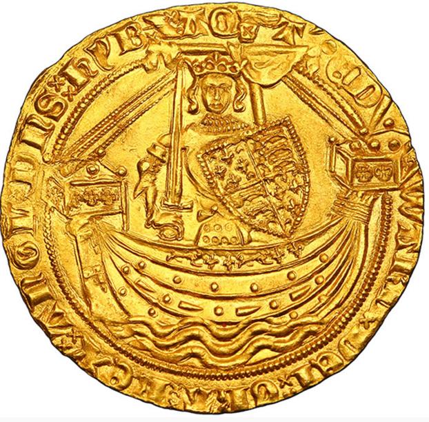 Royaume d'Angleterre Édouard III Noble d'or