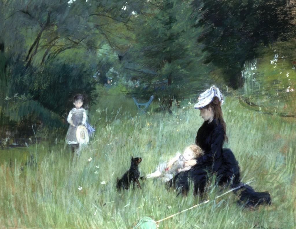 Berthe Morisot, « Dans le parc », pastel, vers 1874, image ©Petit Palais Roger Viollet