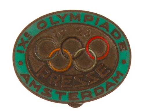 Badge de presse pour les journalistes des JO de 1928 MPO Auctions Estimation basse: 100 €