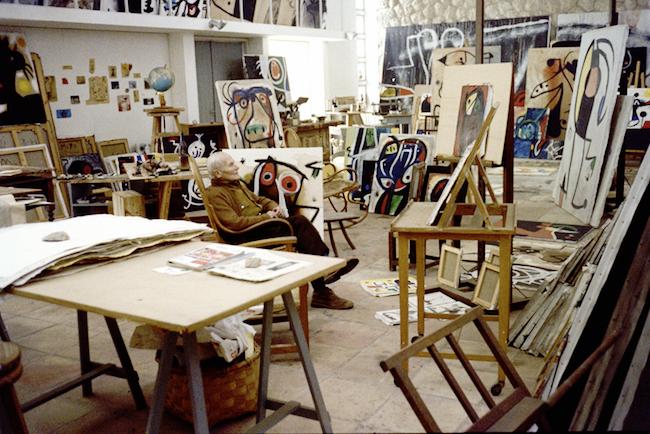 Joan Mirós studio på Mallorca, 1977. Foto: Francesc Català-Roca.