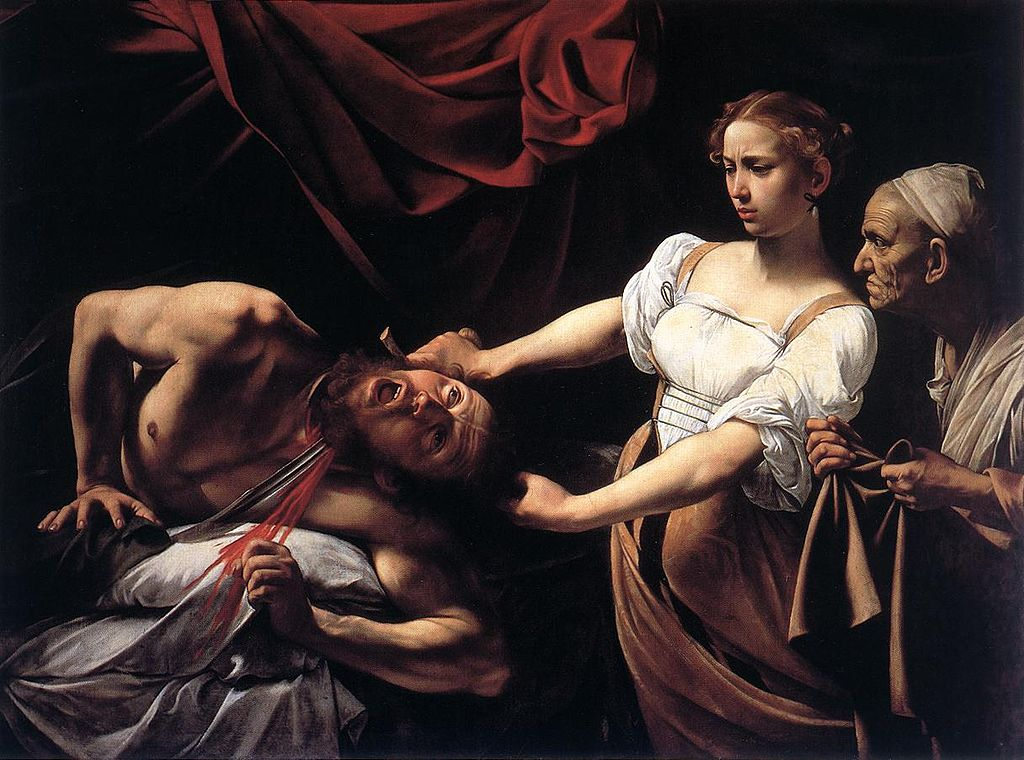 Judith beheading Holofernes, Caravaggio. 1598, oil on canvas. Image: WikiCommons