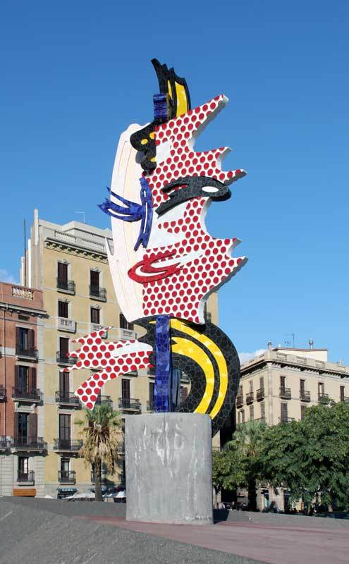 Roy Lichtenstein, 'Barcelona Head', 1992.