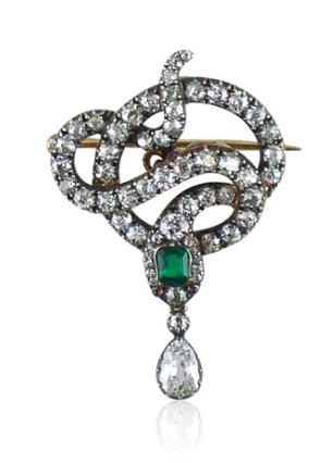 Broche antique diamants Humphrey Butler