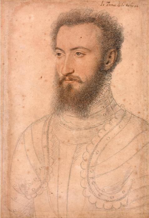 François Clouet, Portrait de Charles de Bourbon, prince de la Roche-sur-Yon, duc de Beaupréau