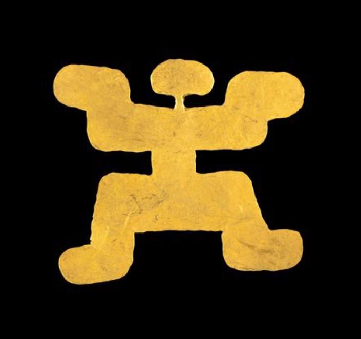 Pendentif anthropomorphe Tolima, Colombie, 0-900 après JC. Origine Auction