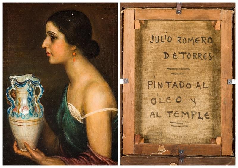 """Julio Romero de Torres (Córdoba 1874-1930). """"Retrato de la bailaora Conchita Triana"""""""
