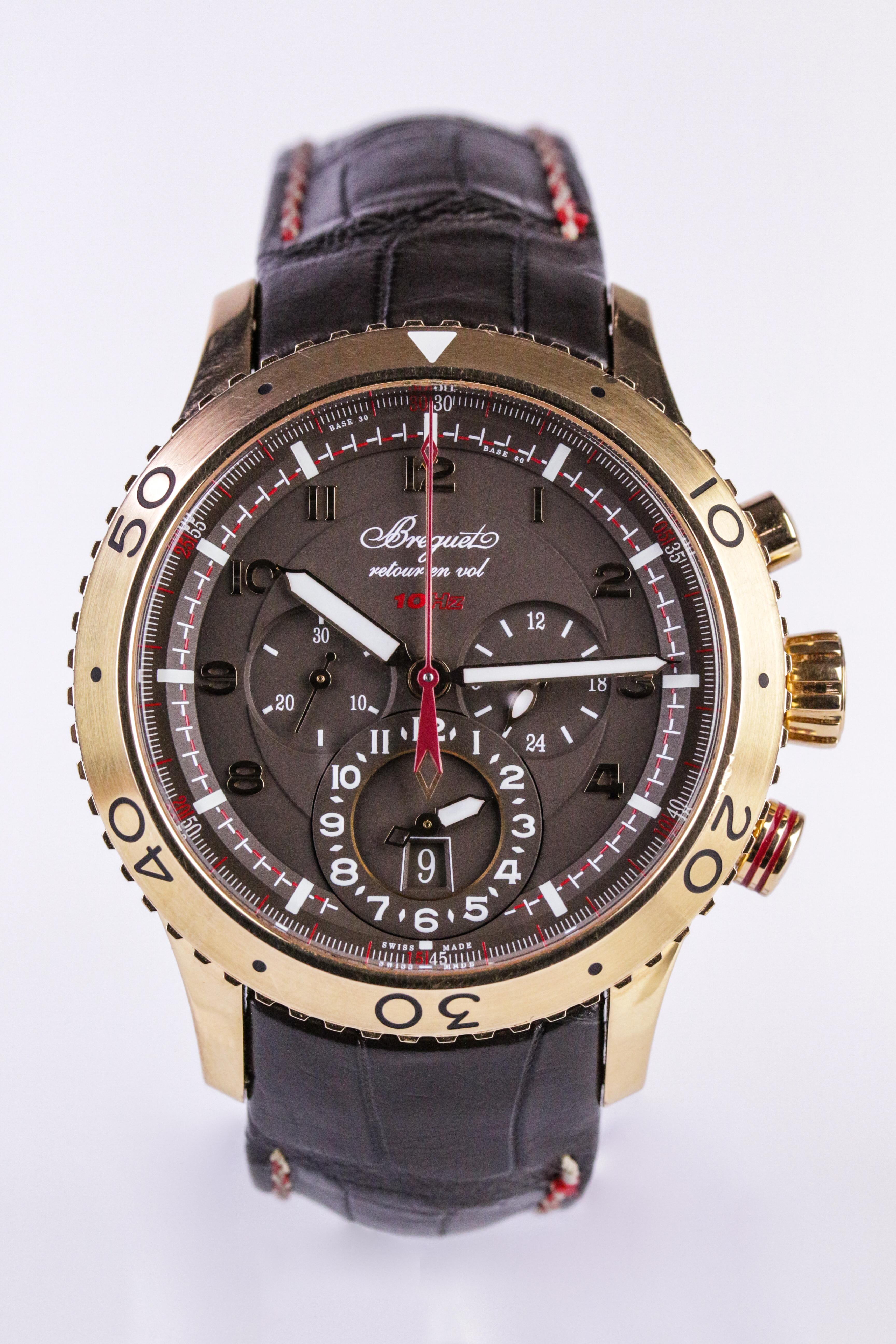 Breguet Type XXII Flyback Chronograph Watch. Photo: John Pye Auctions