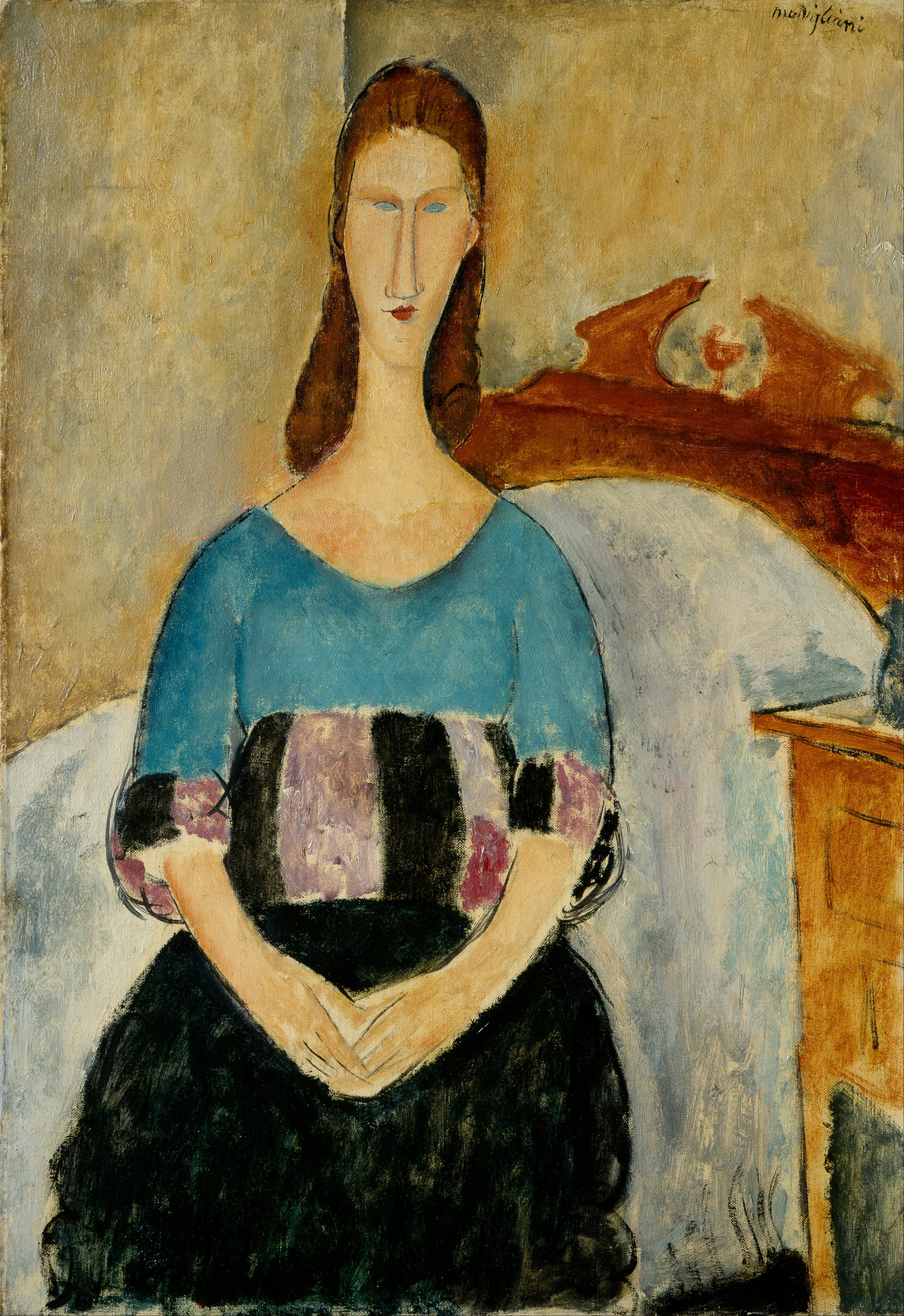 Amedeo Modigliani, 'Portrait of Jeanne, Seated', 1918