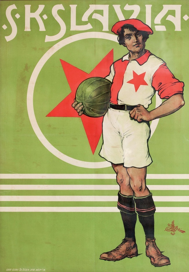 Objekt 576: Affisch, SK Slavia, Tjeckien. Cirka 1940. Startpris: 5600 kronor.
