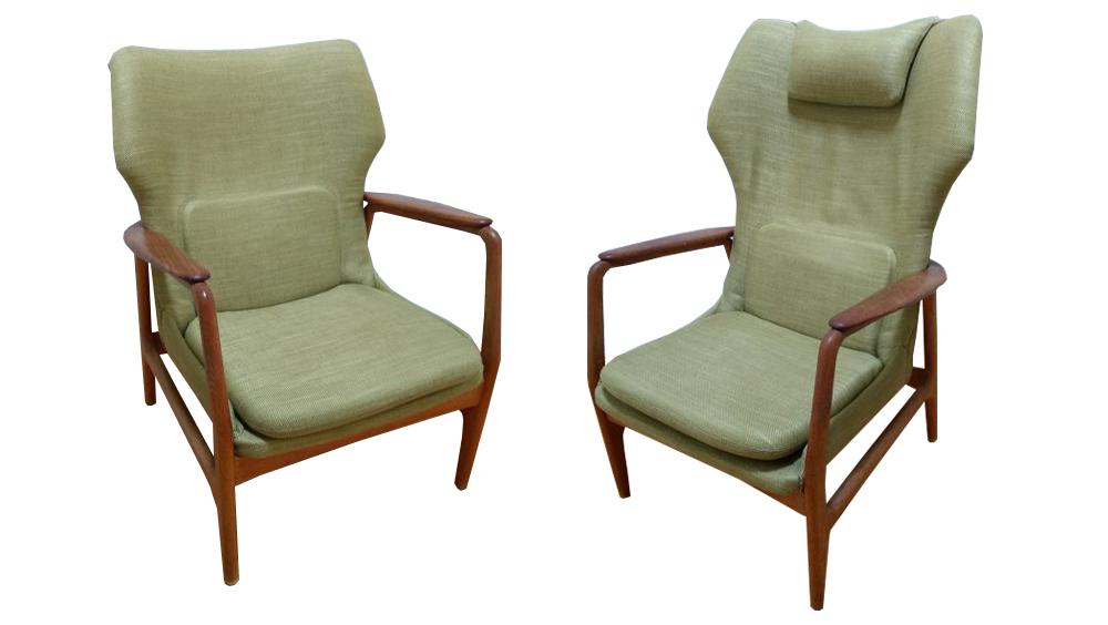 Ib Madsen et Acton Schubell pour Bovenkamp, canapé et petits fauteuils de salon
