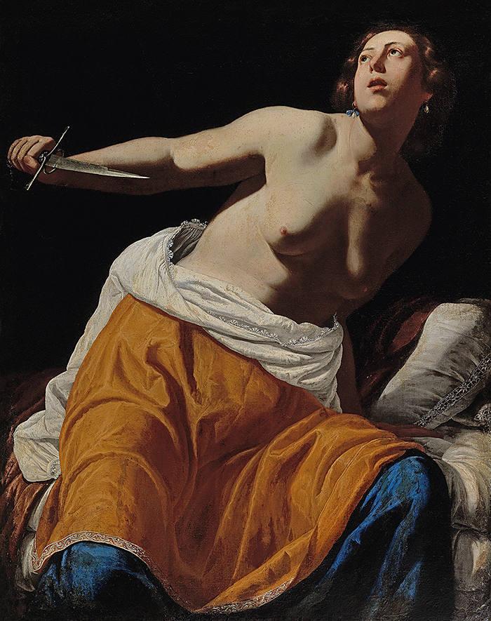"Artemisia Gentileschi, ""Lucrezia"", immagine © Dorotheum"