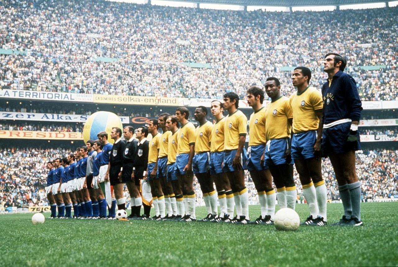 Vor dem Finale: Die Mannschaften von Brasilien und Italien