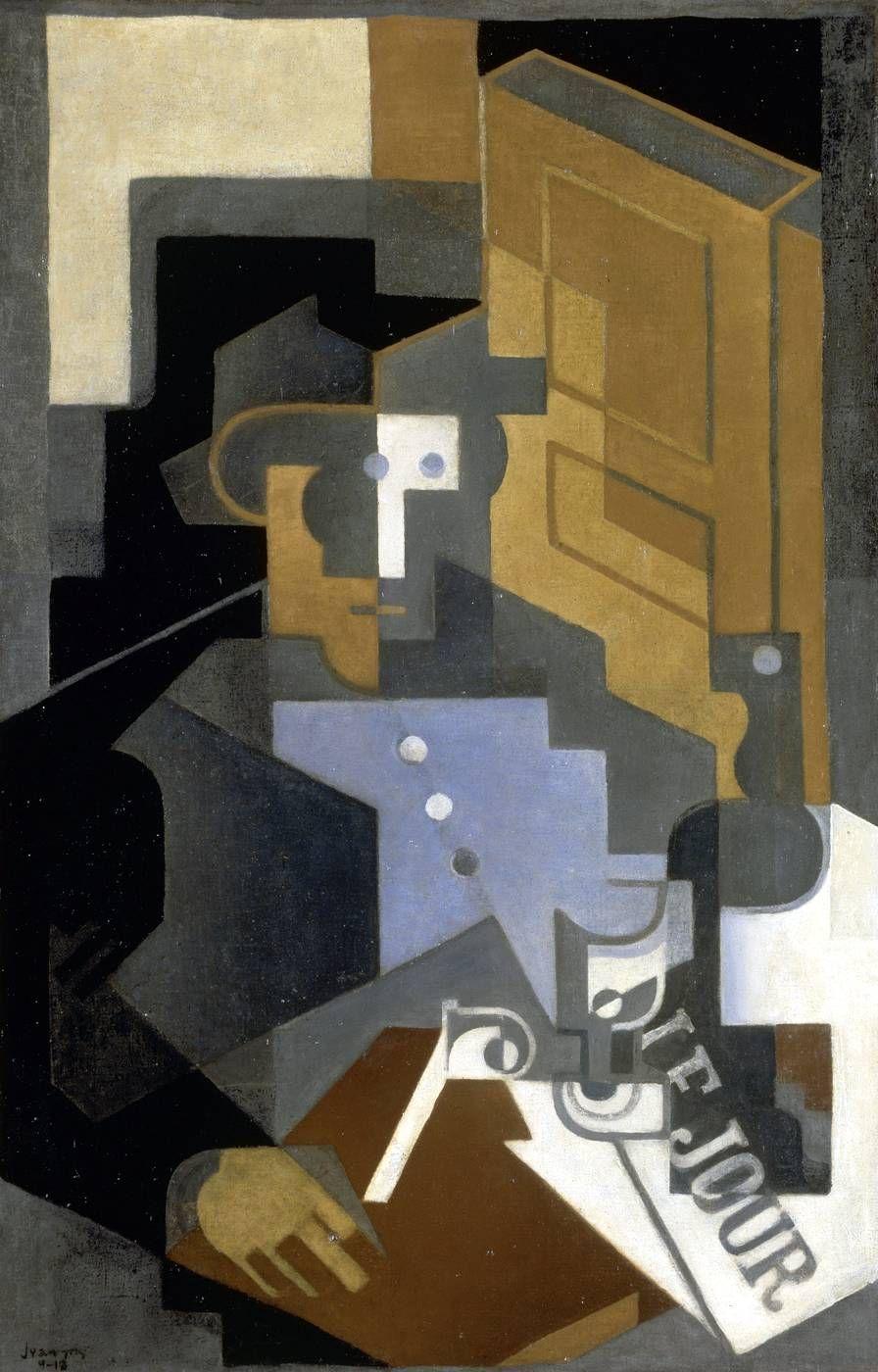 JUAN GRIS. Le Tourangeau (1918). Imagen vía: Museo de Arte Moderno de París