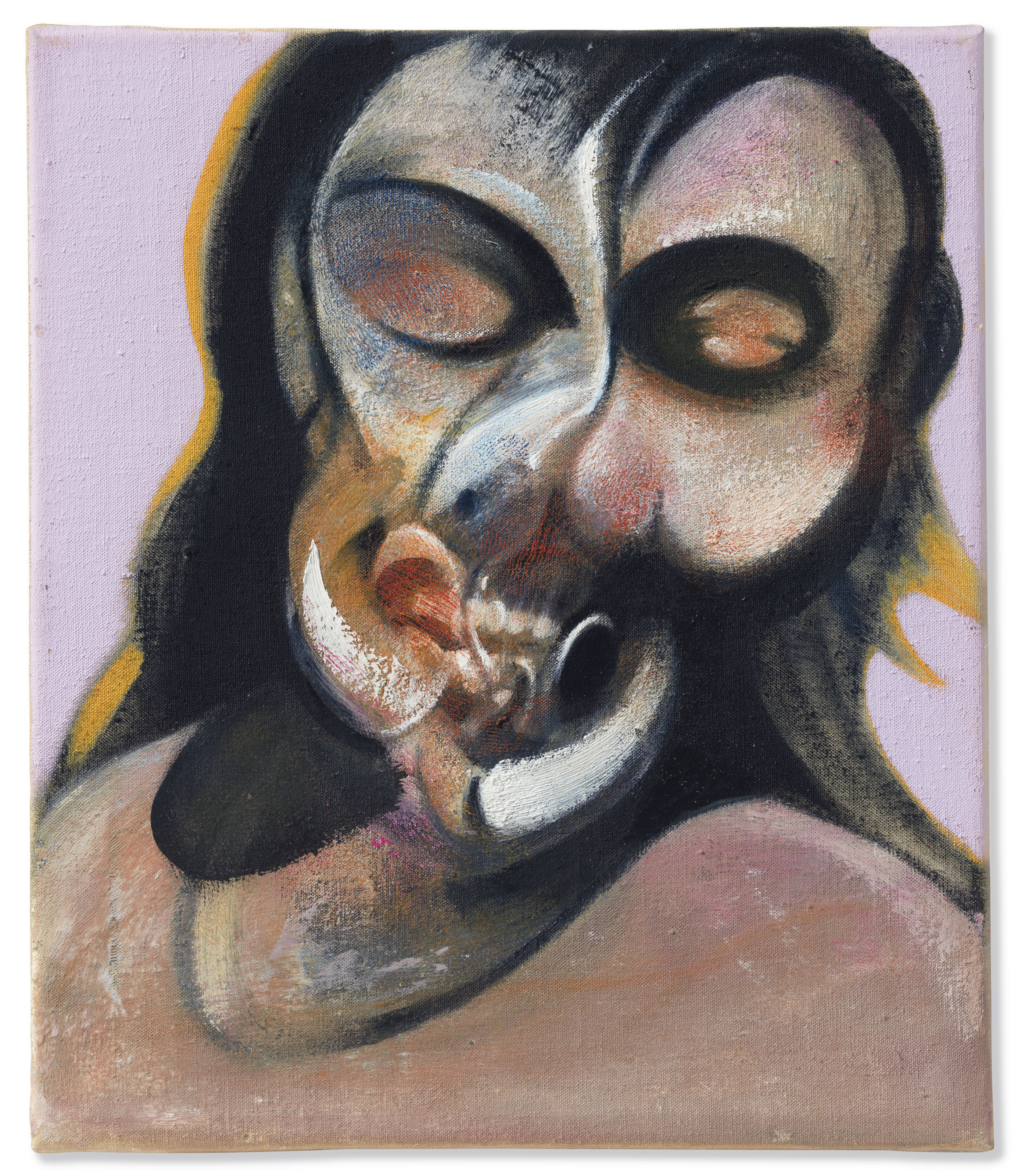 Francis Bacon (1909-1992), Study of Henrietta Moraes Laughing, painted in 1969. Oil on canvas.  © The Estate of Francis Bacon. All rights reserved / DACS, London / ARS, NY 2018 via Christie's