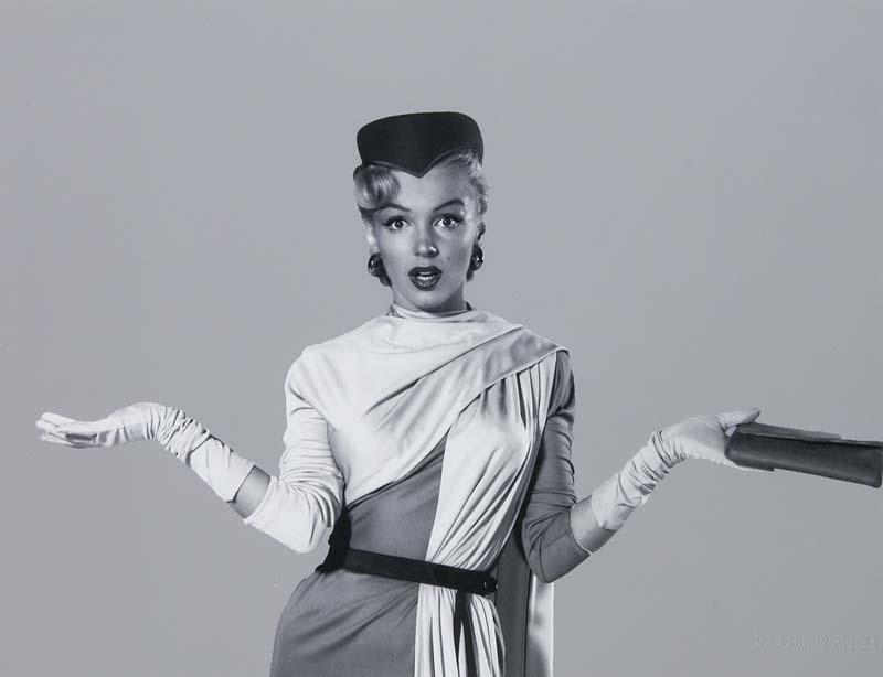JOHN FLOREA - (1916 Alliance - 2000 Las Vegas) - Marilyn, Silbergelatine, Fotografenstempel