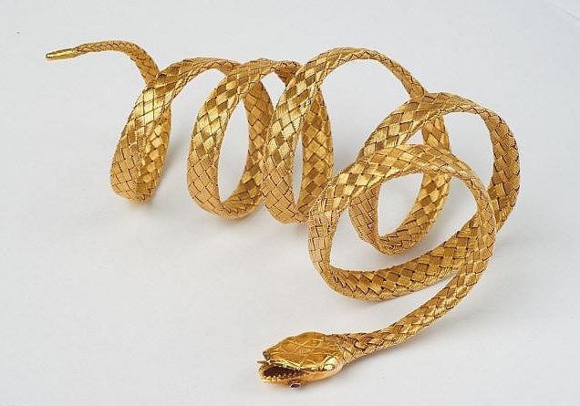 Bracelet Serpent or et rubis Lempertz