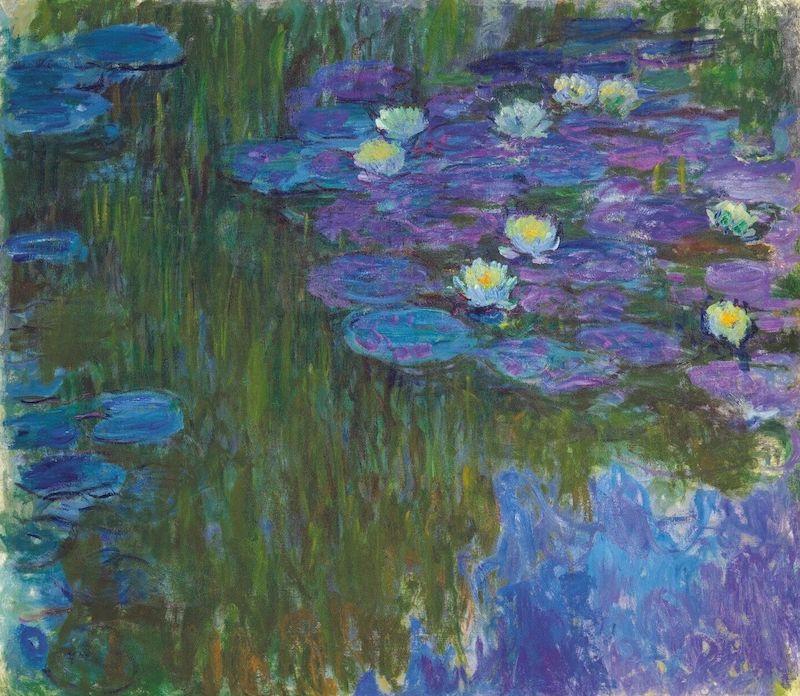 En av Monets berömda näckros-målningar, men med klockren proveniens