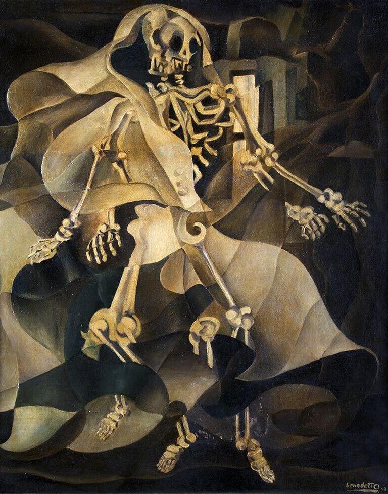 ENZO BENEDETTO (Reggio Calabria 1905 – Rom 1993) - Danza macabra, Öl/Lwd., 1942