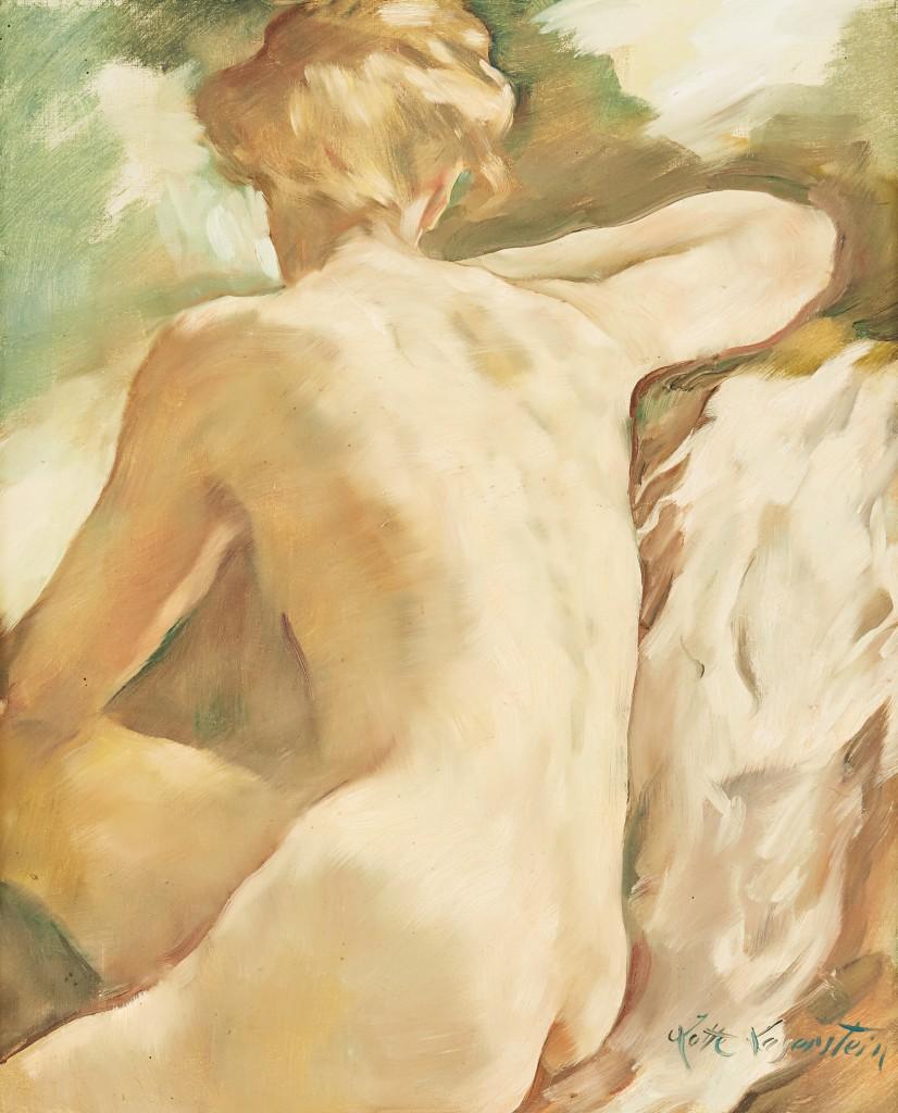 """LOTTE LASERSTEIN (1898 Preußisch Holland - 1993 Kalmar) - """"Madeleine"""", Öl/Lwd., signiert"""