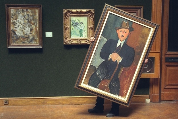 "Amedeo Modigliani, ""Homme assis (appuyé sur une canne)"", 1918. Foto: Brian Smith"