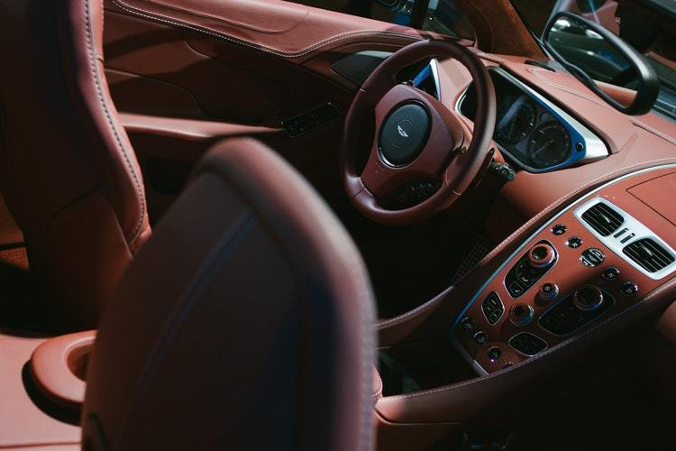 The luxurious interior of an Aston Martin