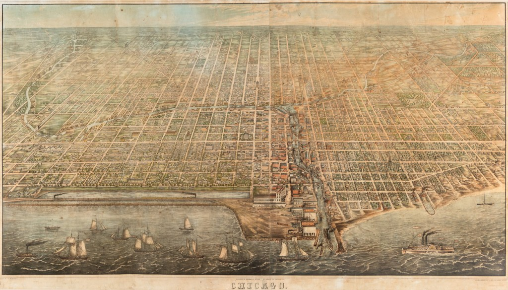 Map of Chicago, pre-fire