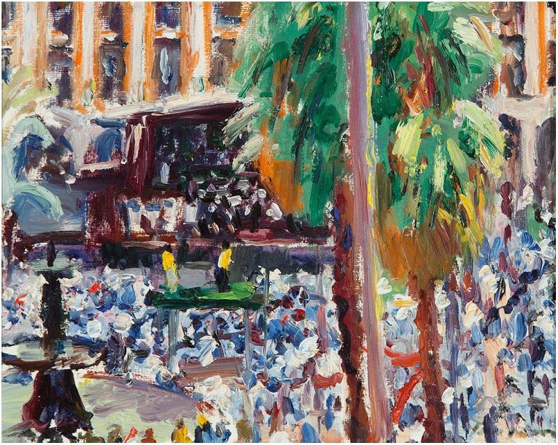 """SIMÓ BUSOM GRAU (Barcelona, 1927). """"Plaça Reial"""""""