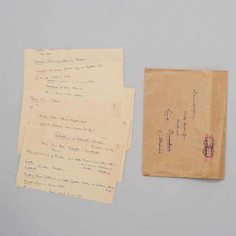 brev, strindberg, Bukowskis, barnebys
