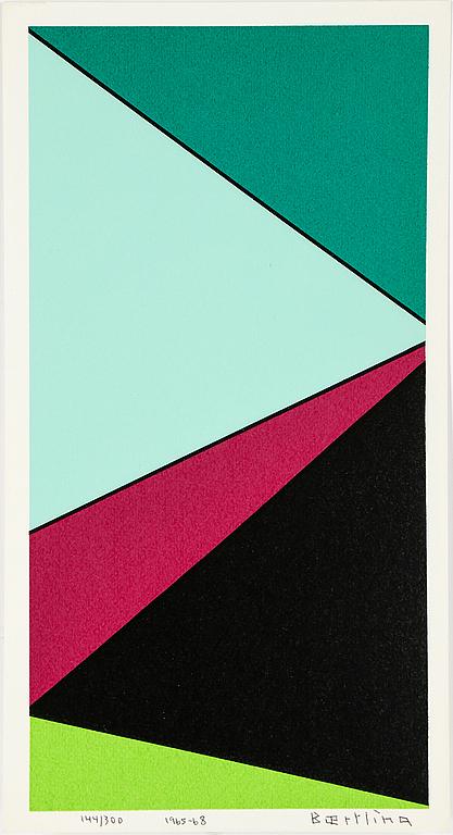 OLLE BAERTLING Färgserigrafi, 1966-68, signerad och numrerad 144/300. Utrop: 6 000 SEK. Uppsala Auktionskammare