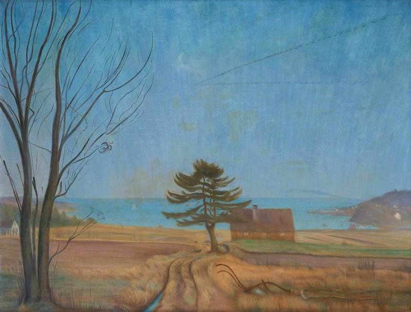 """Harald Sohlbergs """"Sträckande gäss, Nevlunghavn"""" daterad 1924 är ett av de verk som inleder Bukowskis auktion """"Important"""