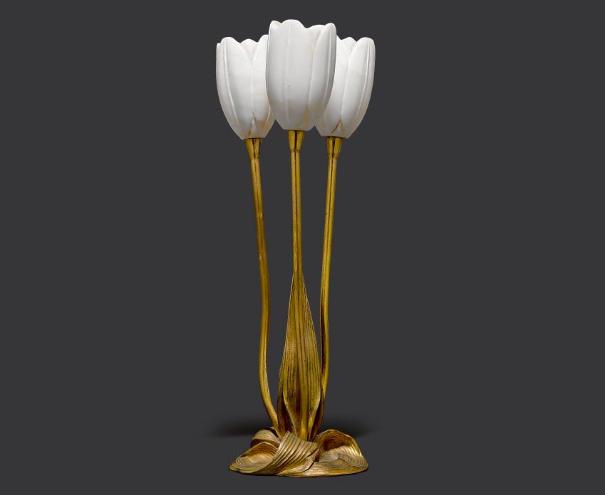 Lampe de table par Albert Cheuret, vers , image ©Koller