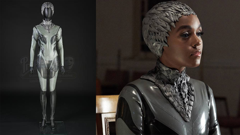 Alice's (played by Janelle Monáe) Autofac Leader Costume. Prop Store
