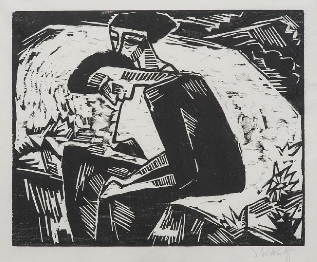 KARL SCHMIDT-ROTTLUFF (1884 Rottluff - 1976 Berlin) - Die Schwestern, Holzschnitt/Papier, signiert, 1914