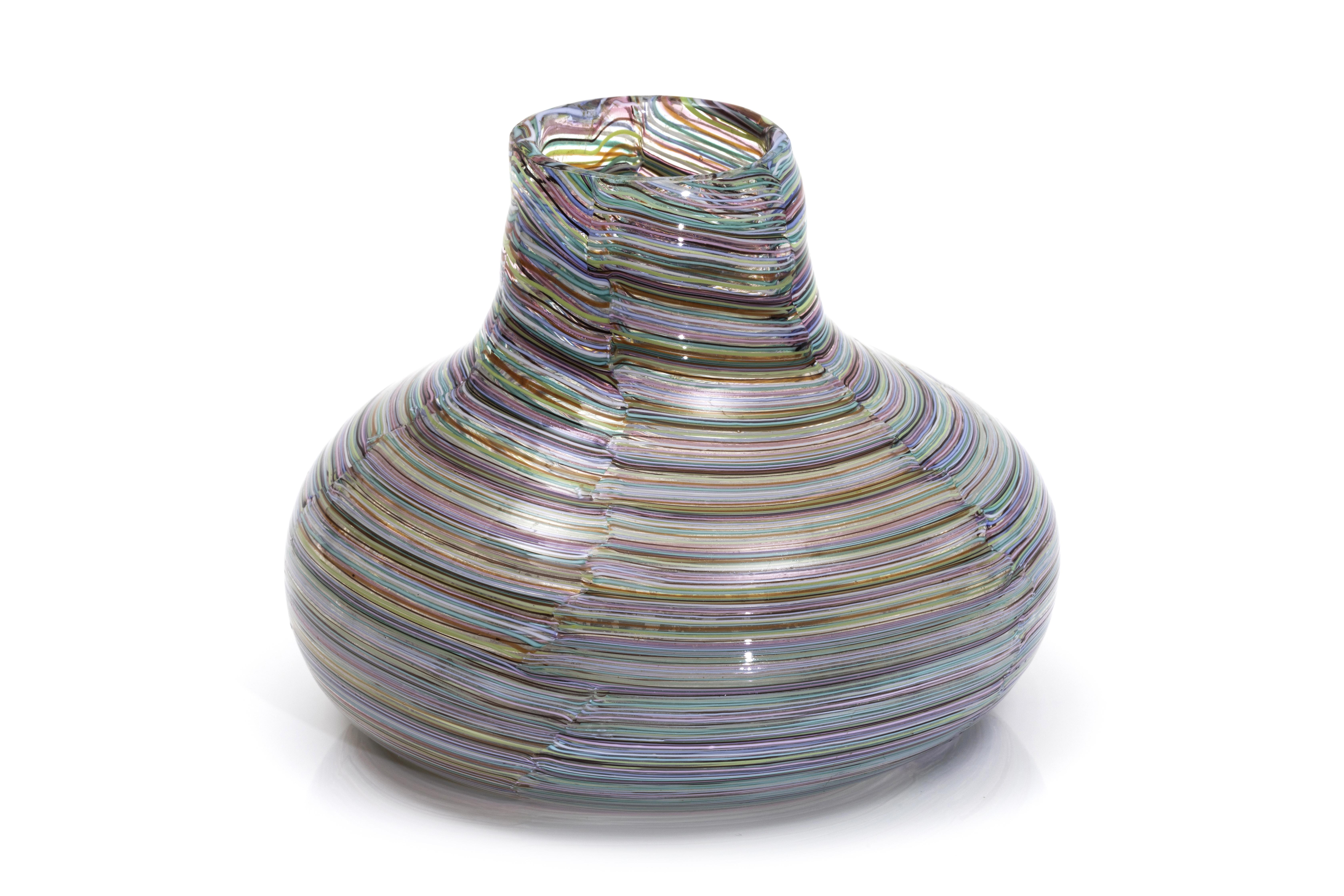 A rare globular vase, P. Venini