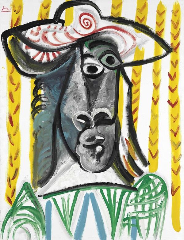 Picasso, Tête, 1969 Image via Christie's