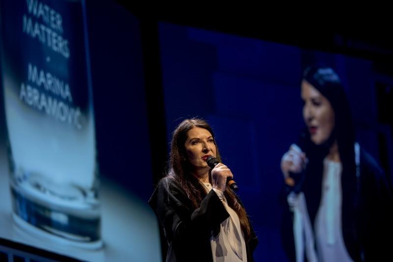 Marina Abramović alla Nobel Week Dialogue. Foto: Alexander Mahmoud