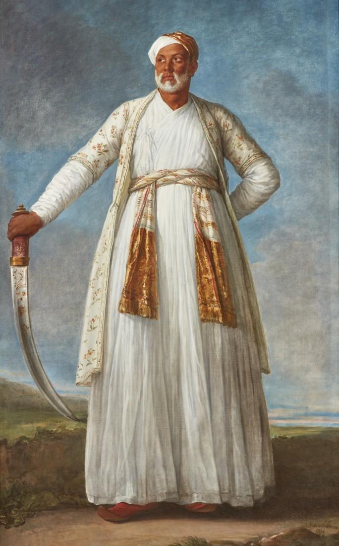 Portrait of Muhammad Dervish Khan, Elisabeth-Louise Vigee Le Brun. 1788, oil on canvas. Image: Sotheby's