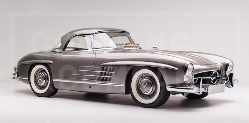 1960 Mercedes-Benz 300 SL Roadster USAUSA2d 16h Dela Utrop Visa bud9 210 000 SEK Favorit Till auktionen Om objektet PROVENANCE Charles Dufton, Andover, Massachusetts (acquired in 1961) Gayle Nieburger, Andover, Massachusetts (inherited from the above in 2000) Current Owner (acquired in 2014) THIS CAR At the Geneva Auto Show in March 1957, Mercedes-Benz introduced a convertible version of the 300 SL Gullwing coupe. Featuring a redesigned frame and updated styling, the 300 SL Roads