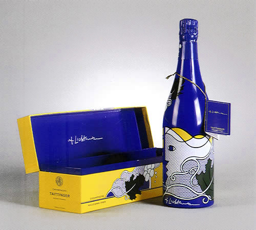 Roy Lichtenstein pour la Collection Taittinger, 1985, image via RoGallery.com