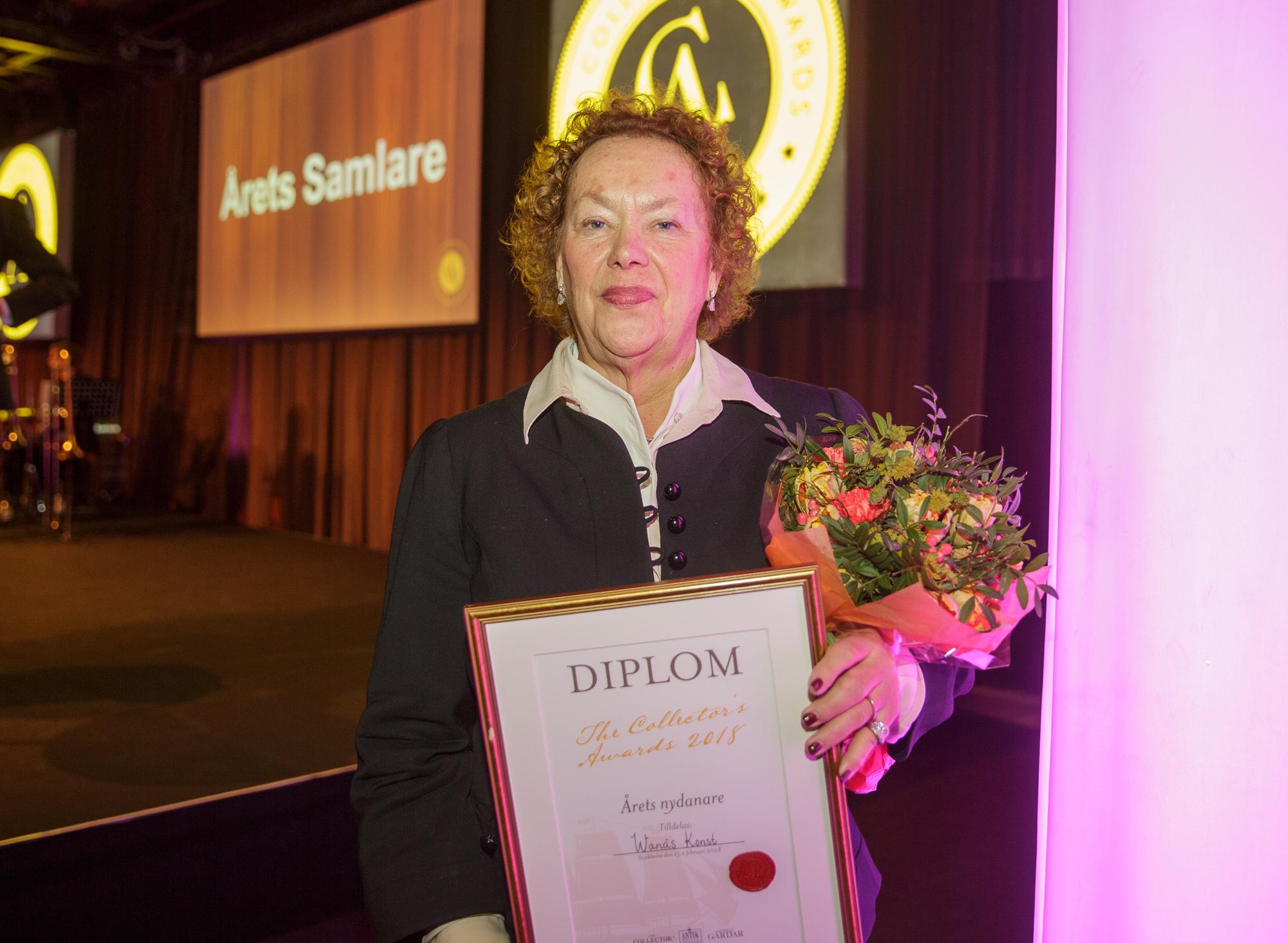 Marika Wachtmeister från Wanås med pris för Årets Nydanare