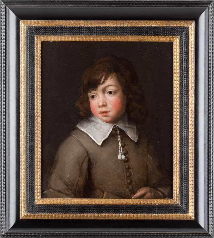 JACOB VAN LOO (1614 Sluis - 1670 Paris) - Portrait eines Knaben, Öl/Holz, signiert und datiert, 1646