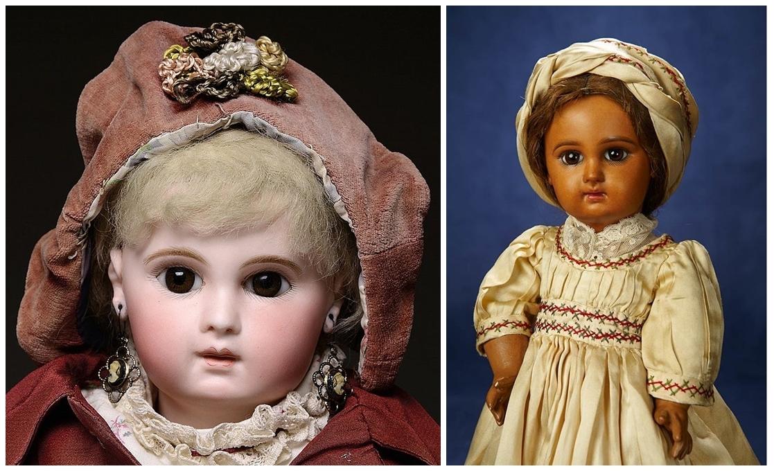 EMILIE JUMEAU. Muñecas de porcelana. Imagen vía: Barnebys