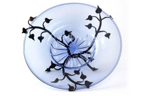 VITTORIO ZECCHIN (1878 Murano 1947) - verre de Murano avec des feuilles de décoration en fer, Cappellin-VENINI 1920