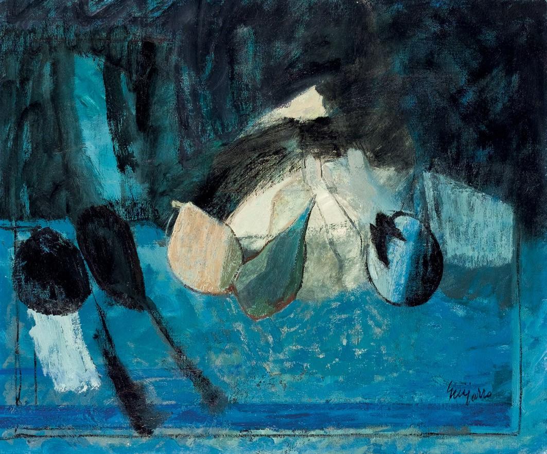 GUIJARRO GUTIERREZ, ANTONIO (1923) - Bodegon de azules