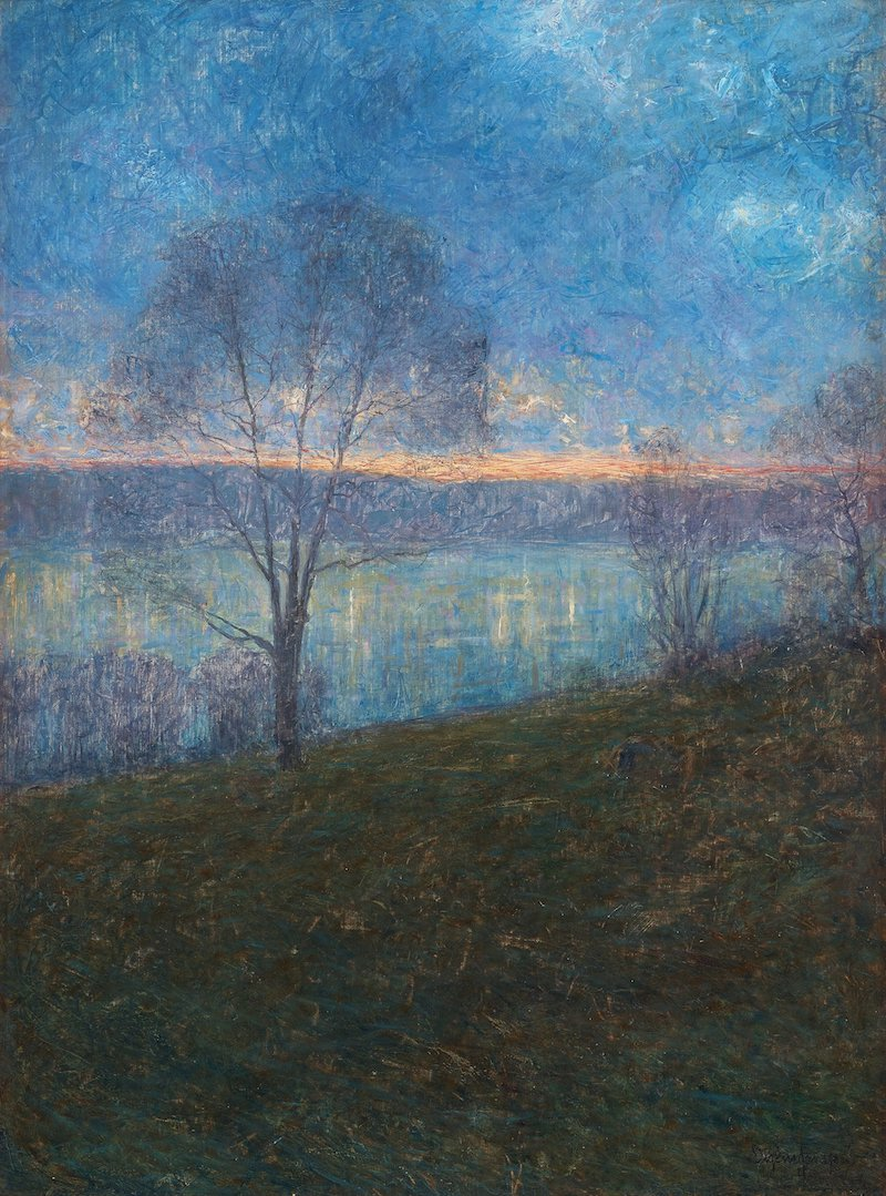 EUGÈNE JANSSON, Evening (Afton) - Utrop 2 000 000 - 2 500 000 kr Signerad Eugène Jansson. Utförd 1894. Olja på duk 104 x 77,5 cm.